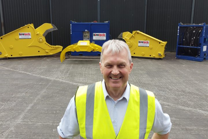 Hiretechs CEO Andy Buchan With Subsea Decommissioning Rental Equipment